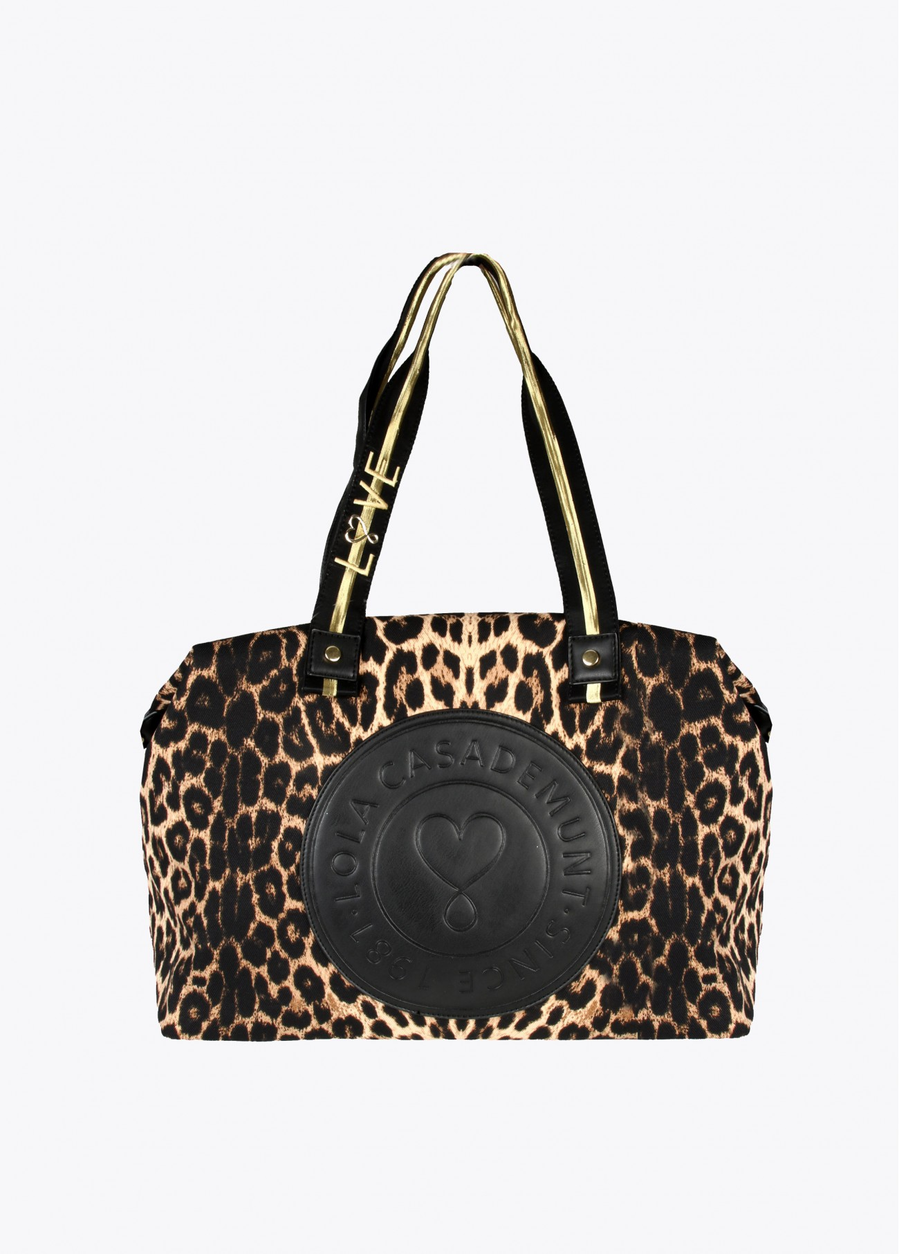 Bolsa weekend leopardo,