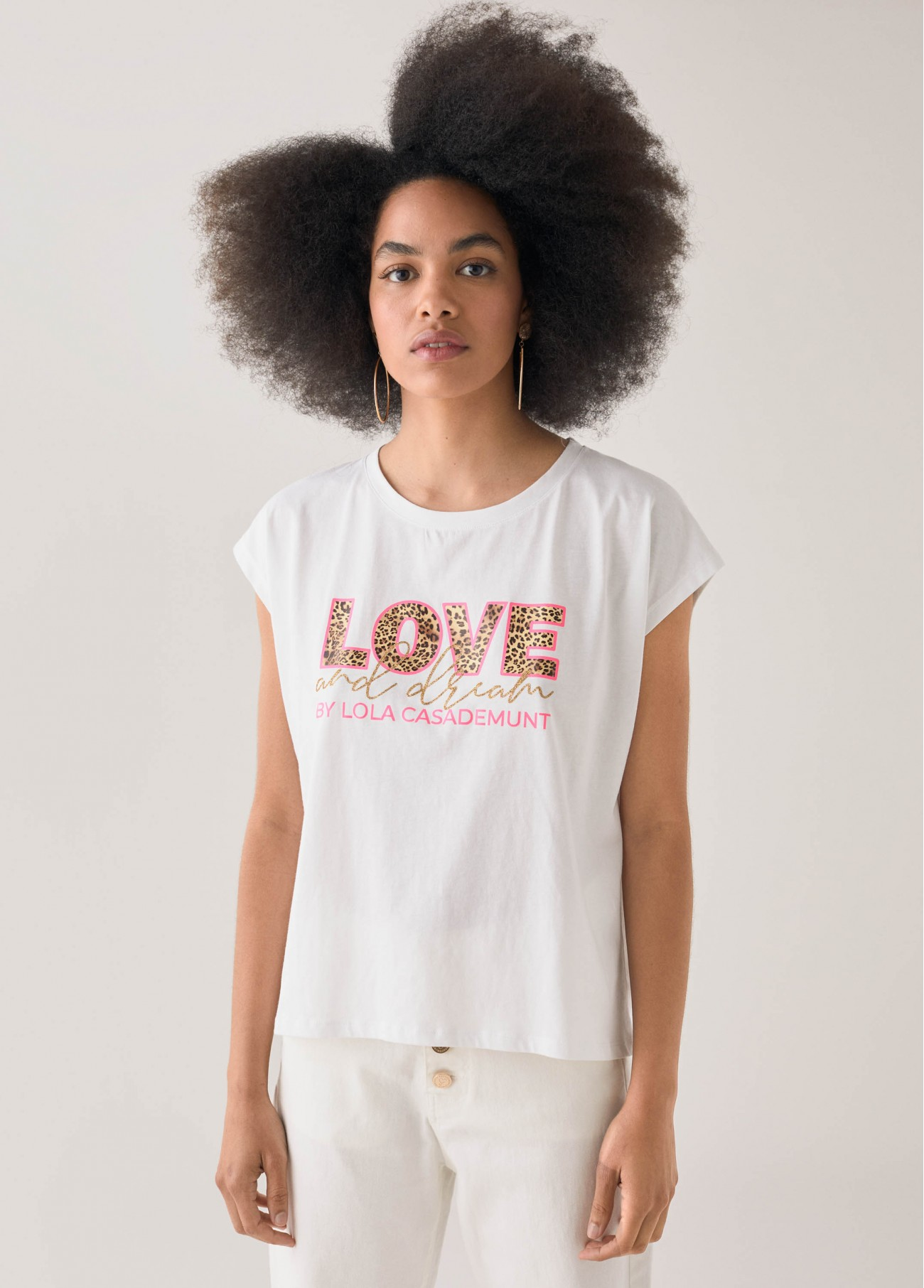 Camiseta leo lola love, blanco 2