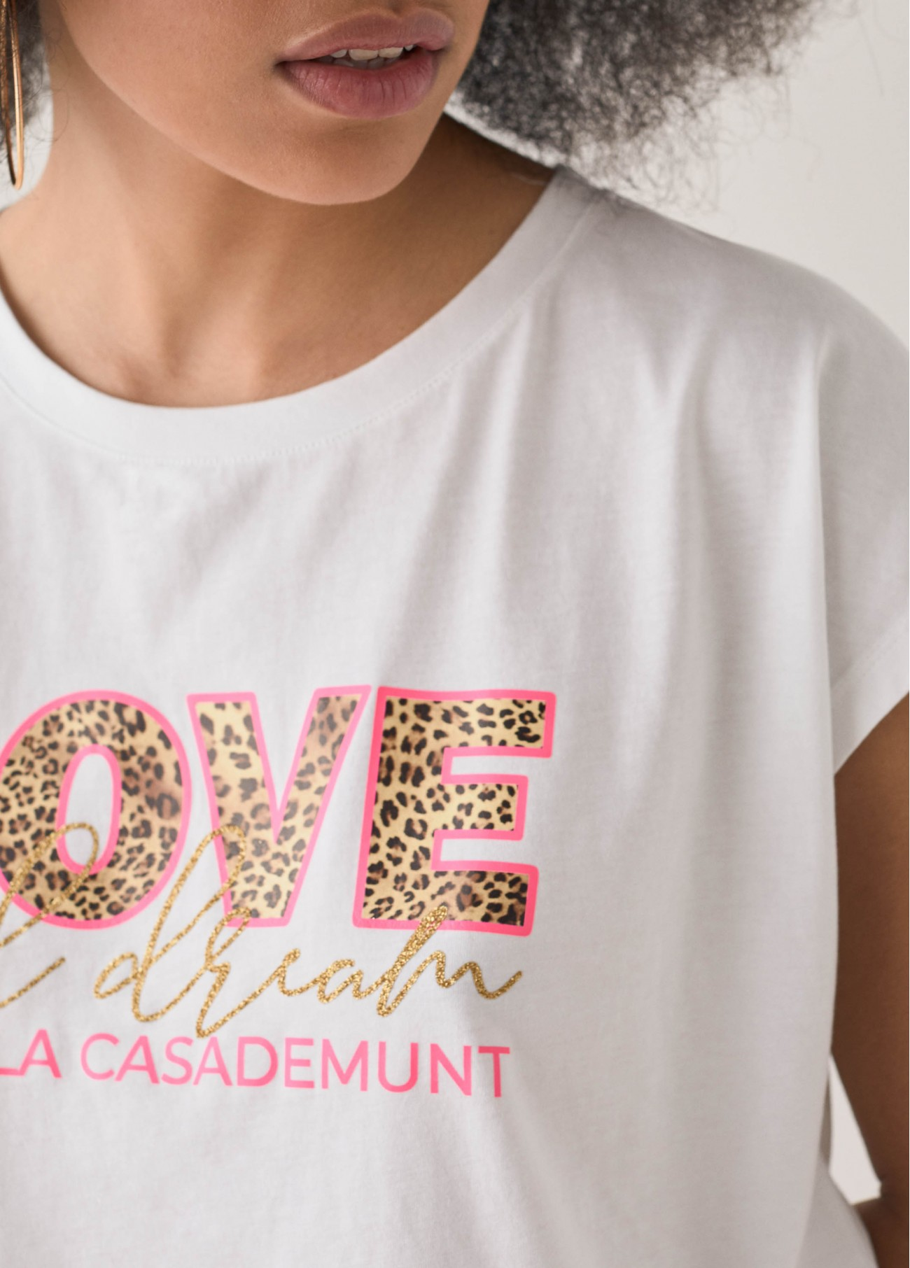 Camiseta leo lola love, blanco