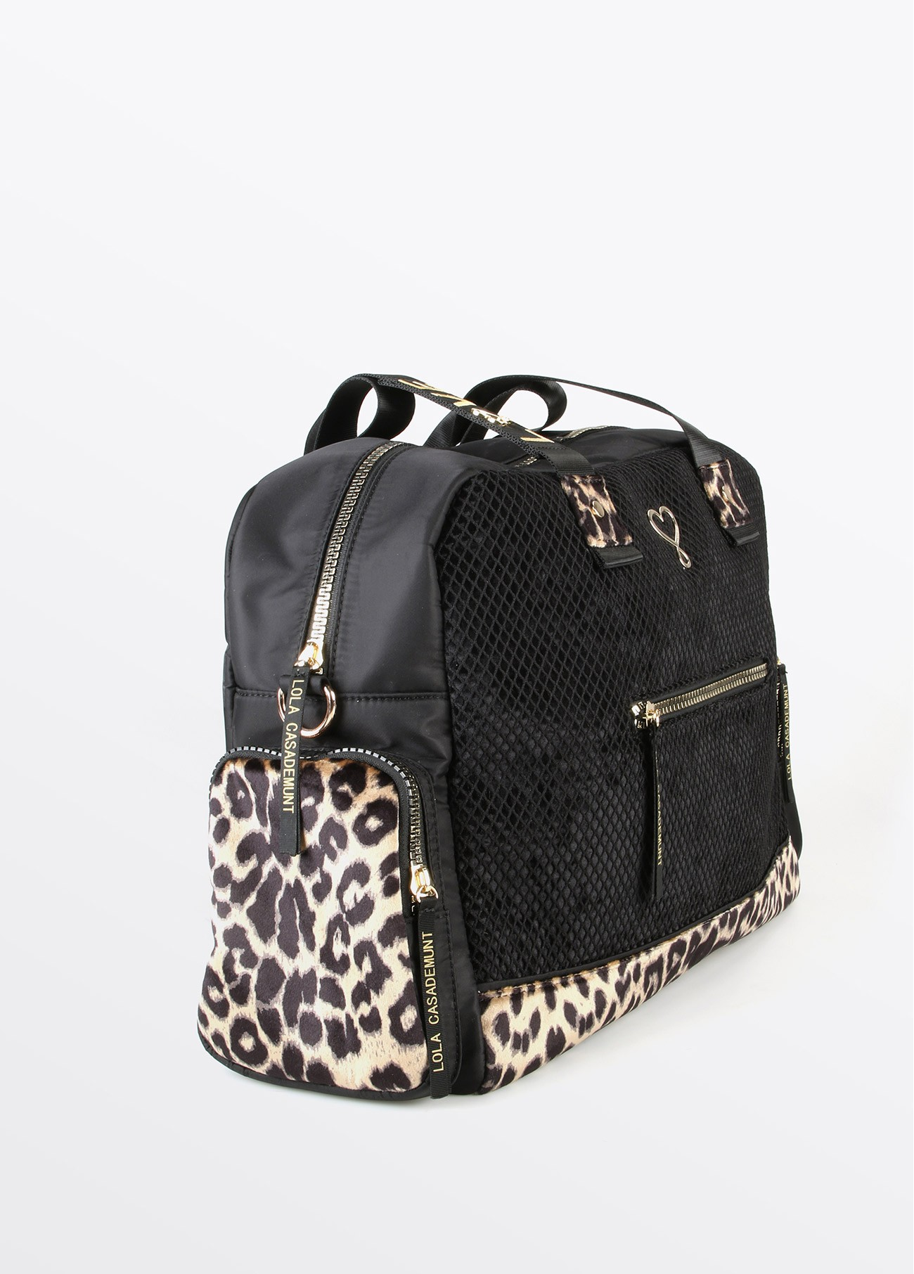 Bolso weekend love rejilla, negro 2