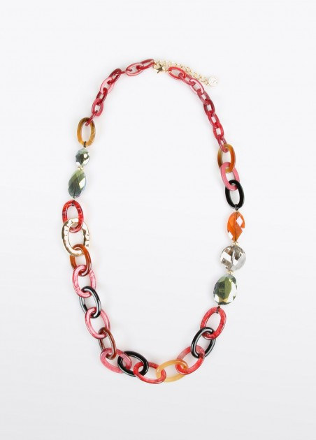 Collar argollas resina, multi 2