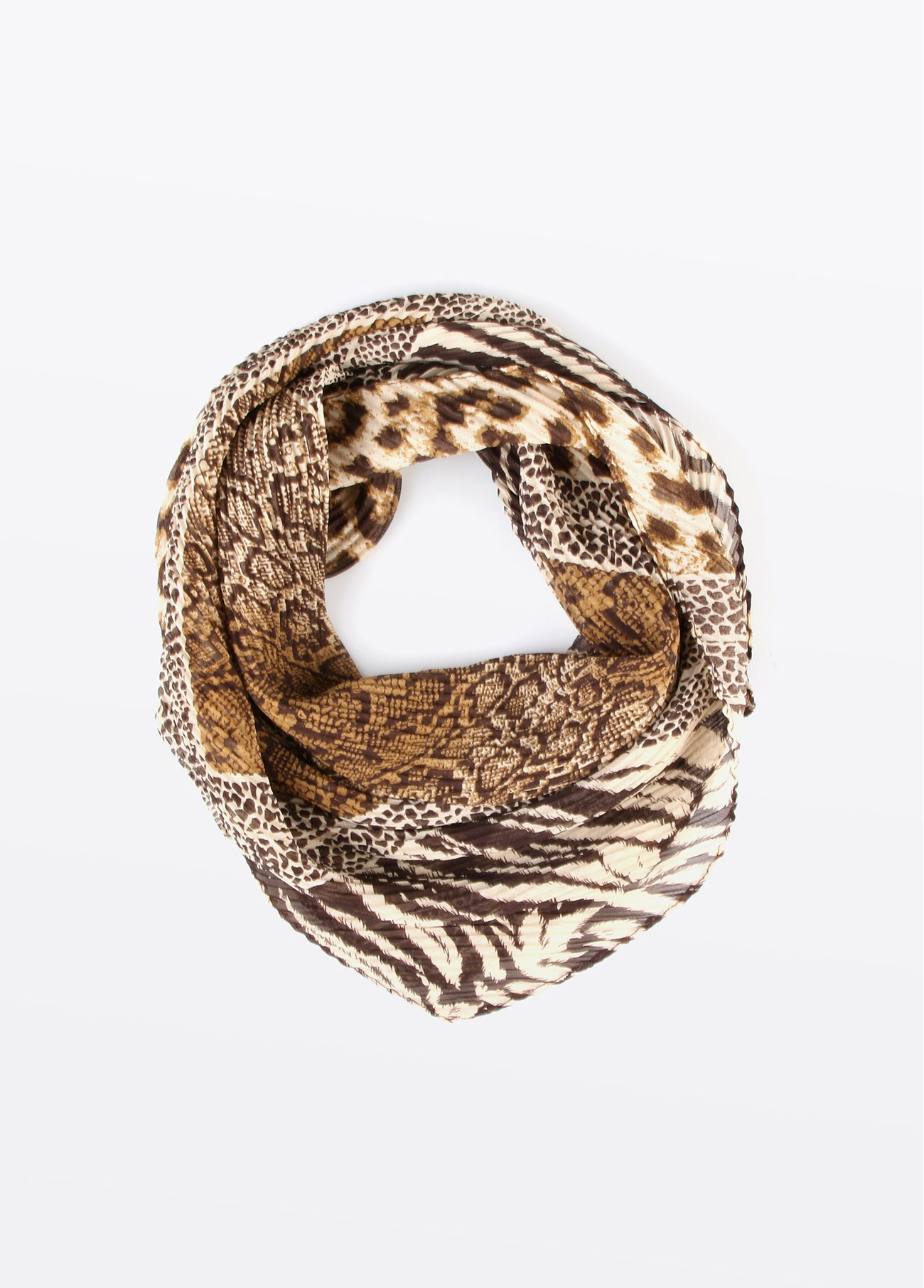Pañuelo cuello estampado patch serpiente, estampado