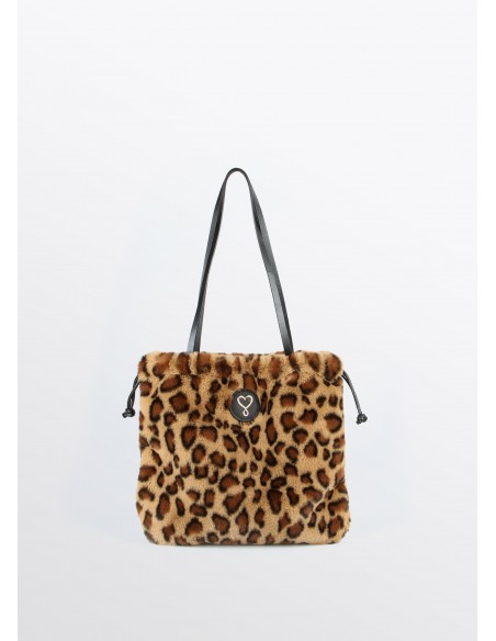 Bolso mini fake fur leopardo, estampado