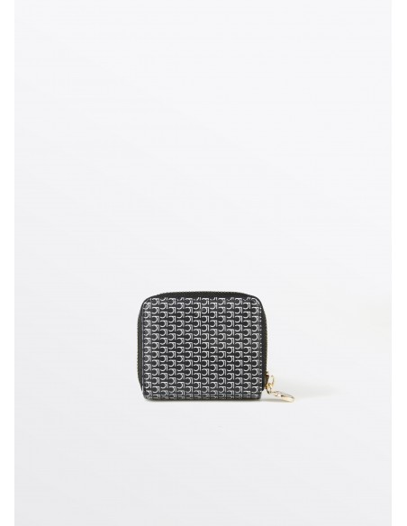 Monedero mini monograma, negro