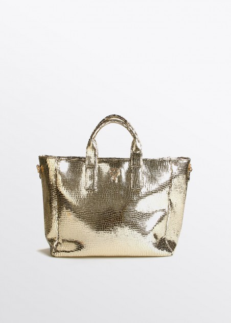 Bolso shopper XL gold...