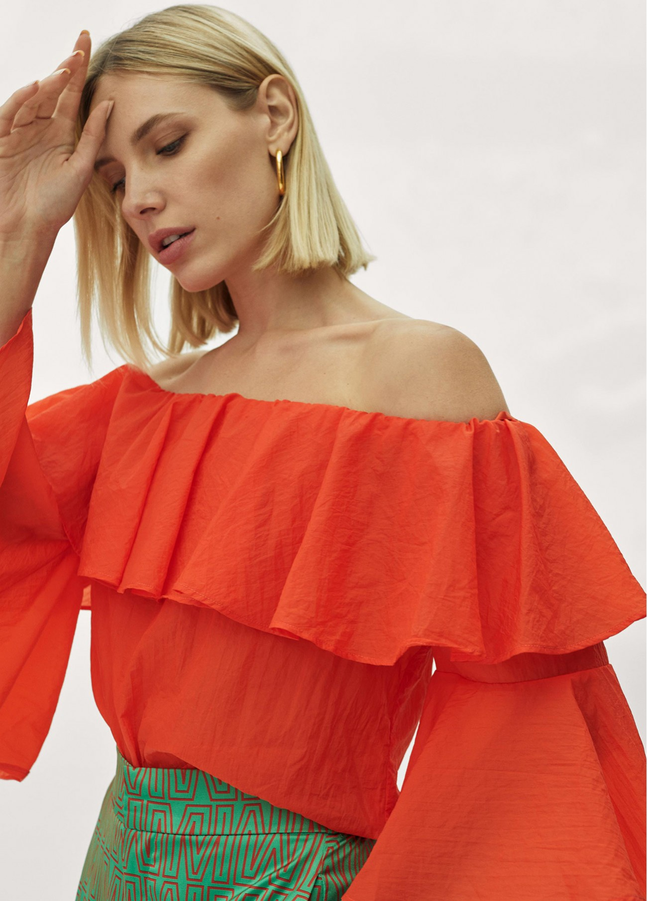 Blusa volantes off shoulders