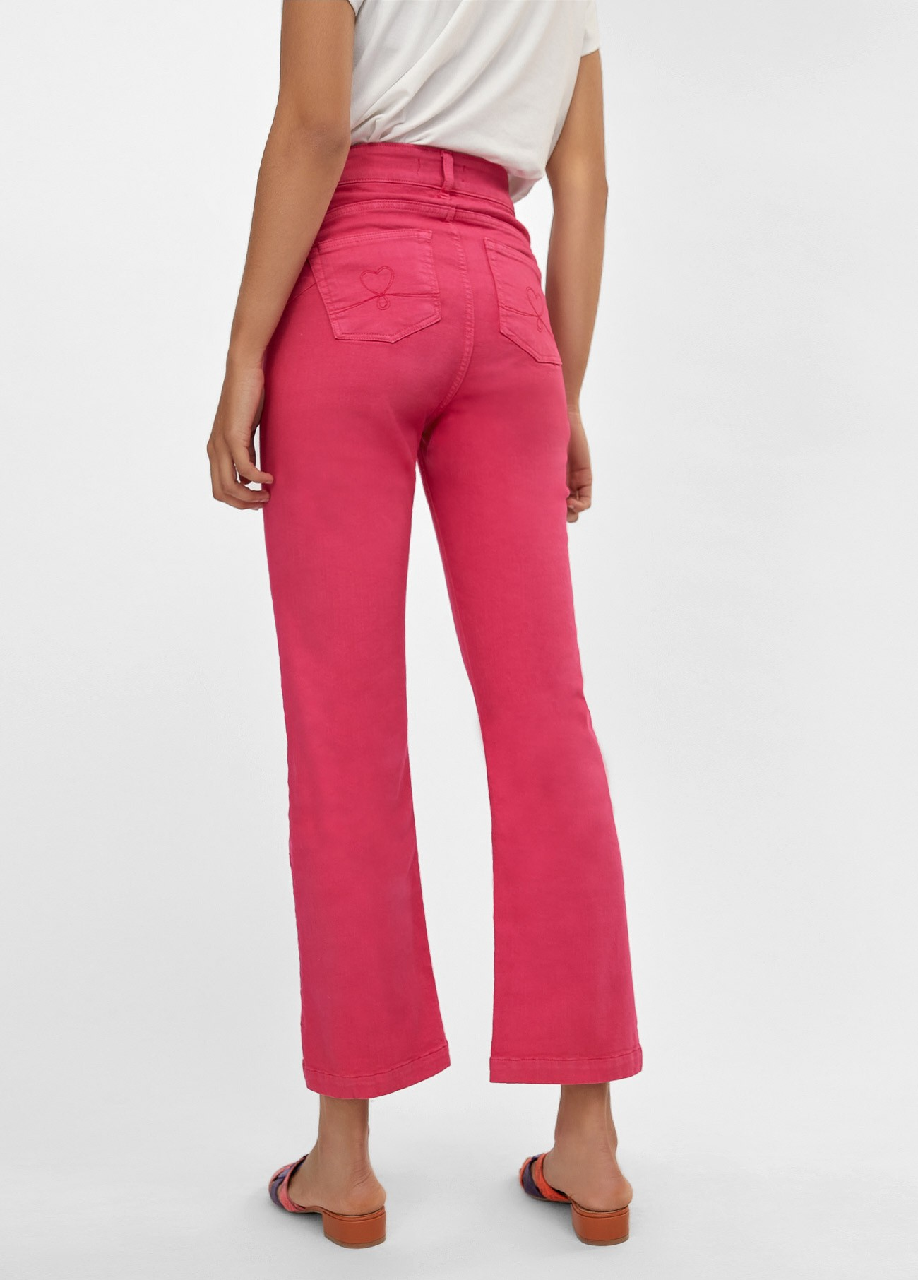 Pantalon 5 bolsillos color