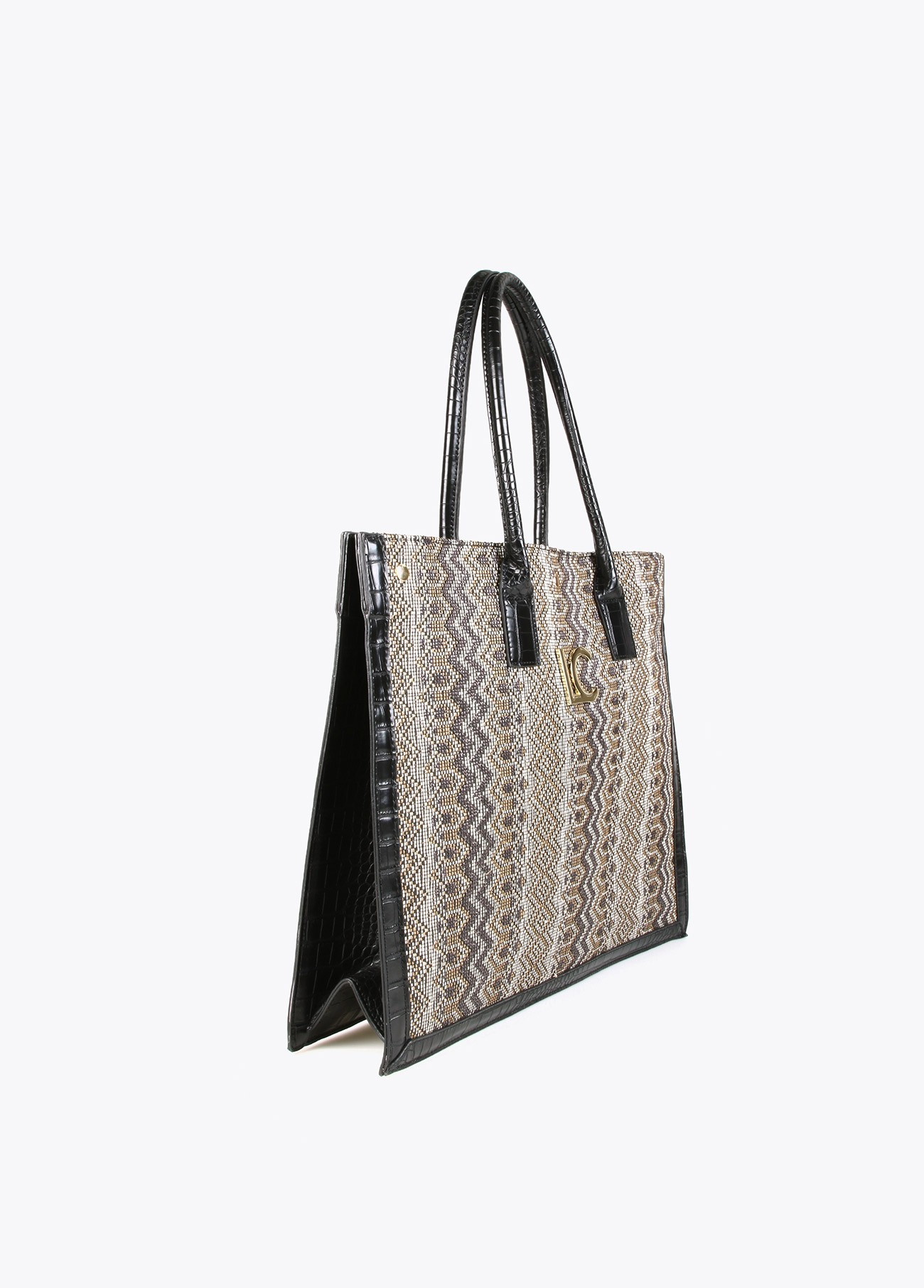 Bolso shopper de rafia
