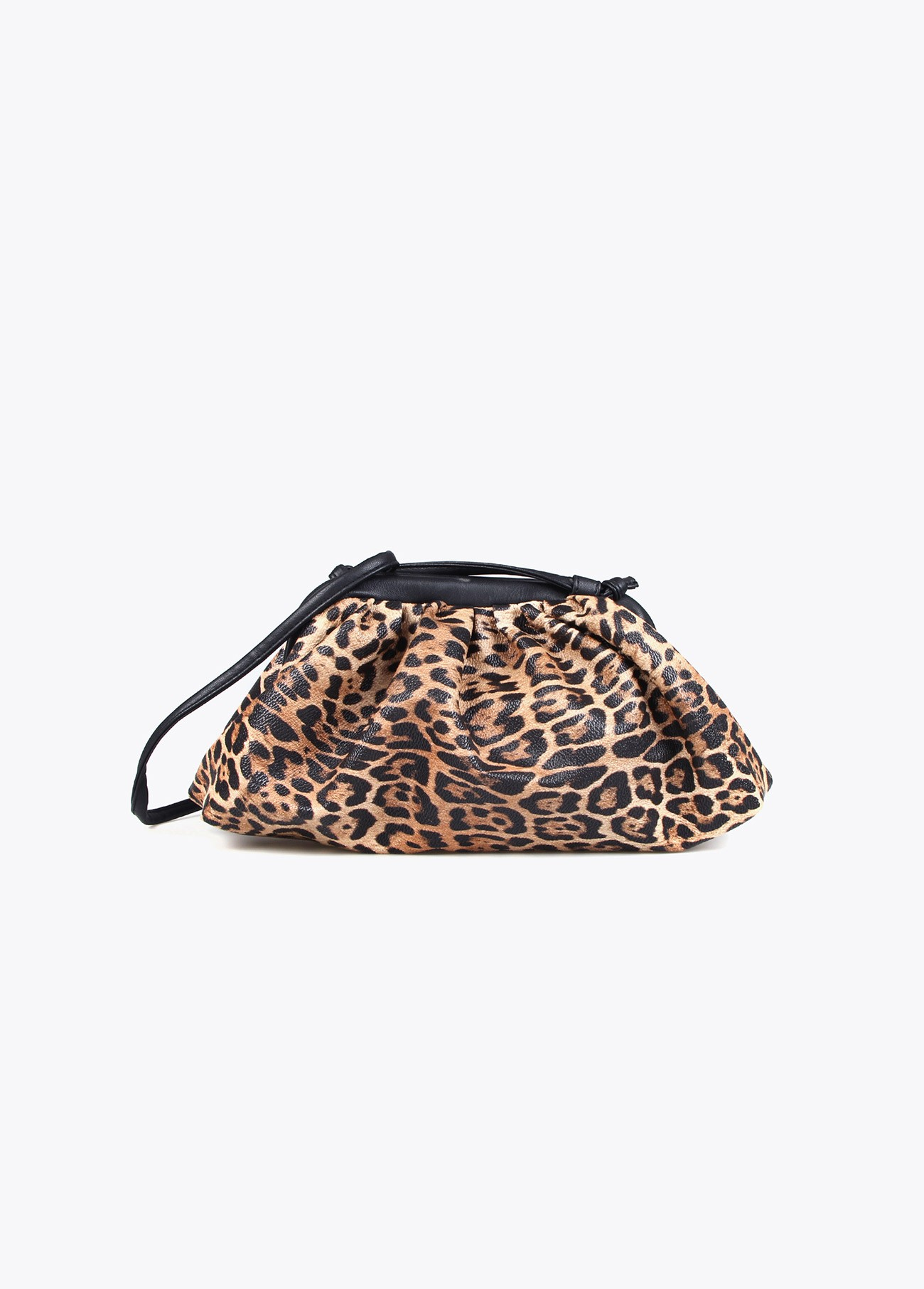 Bolso fruncido volumen animal print
