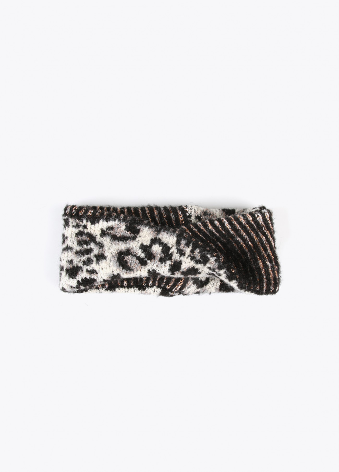 Turbante de punto estampado leopardo, estampado 2