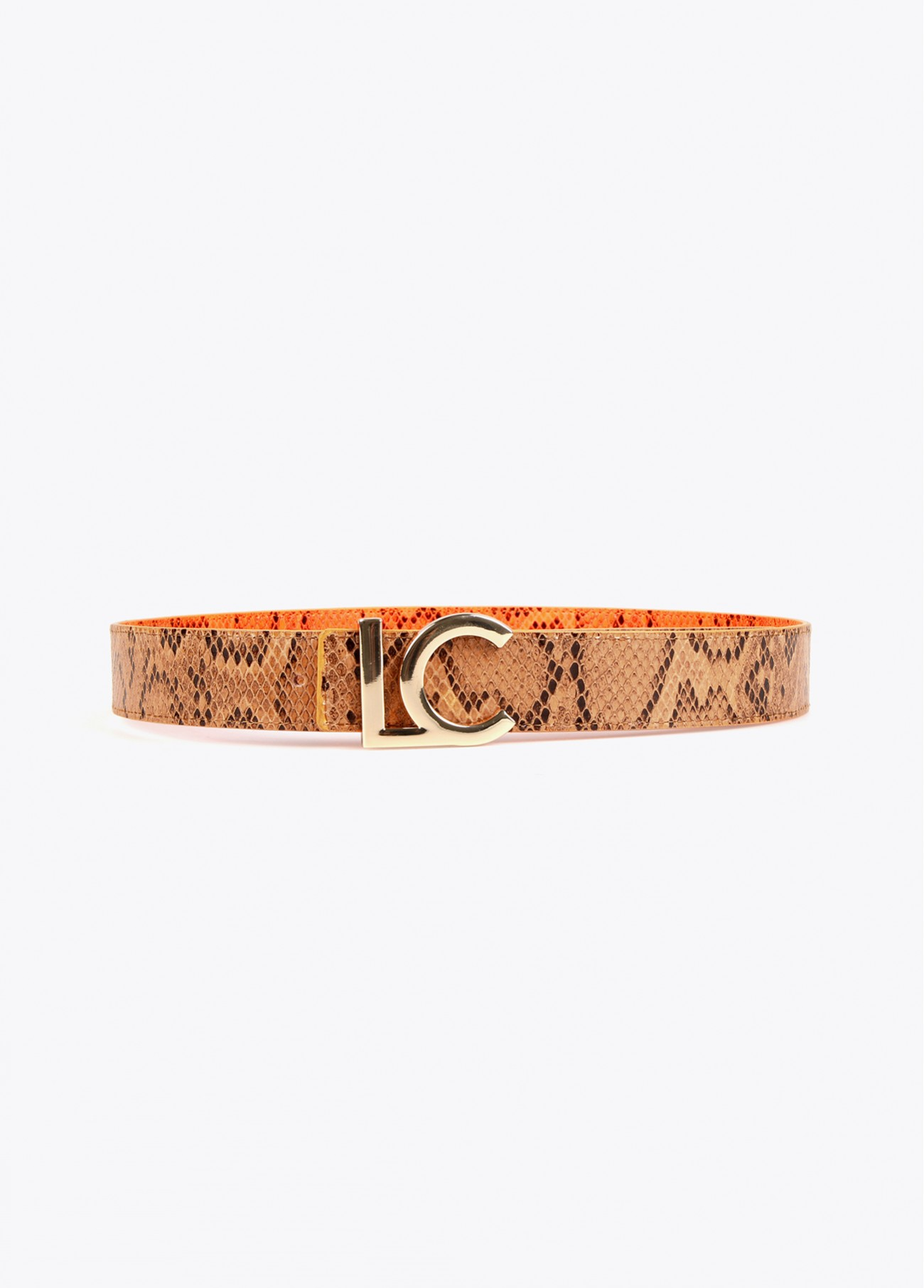 Cinturón reversible animal print