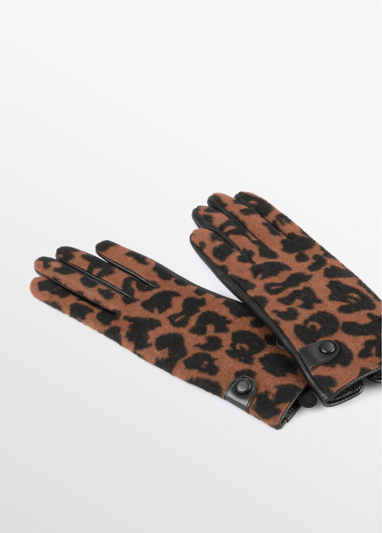 Guantes estampado leopardo, rojo, marron 2