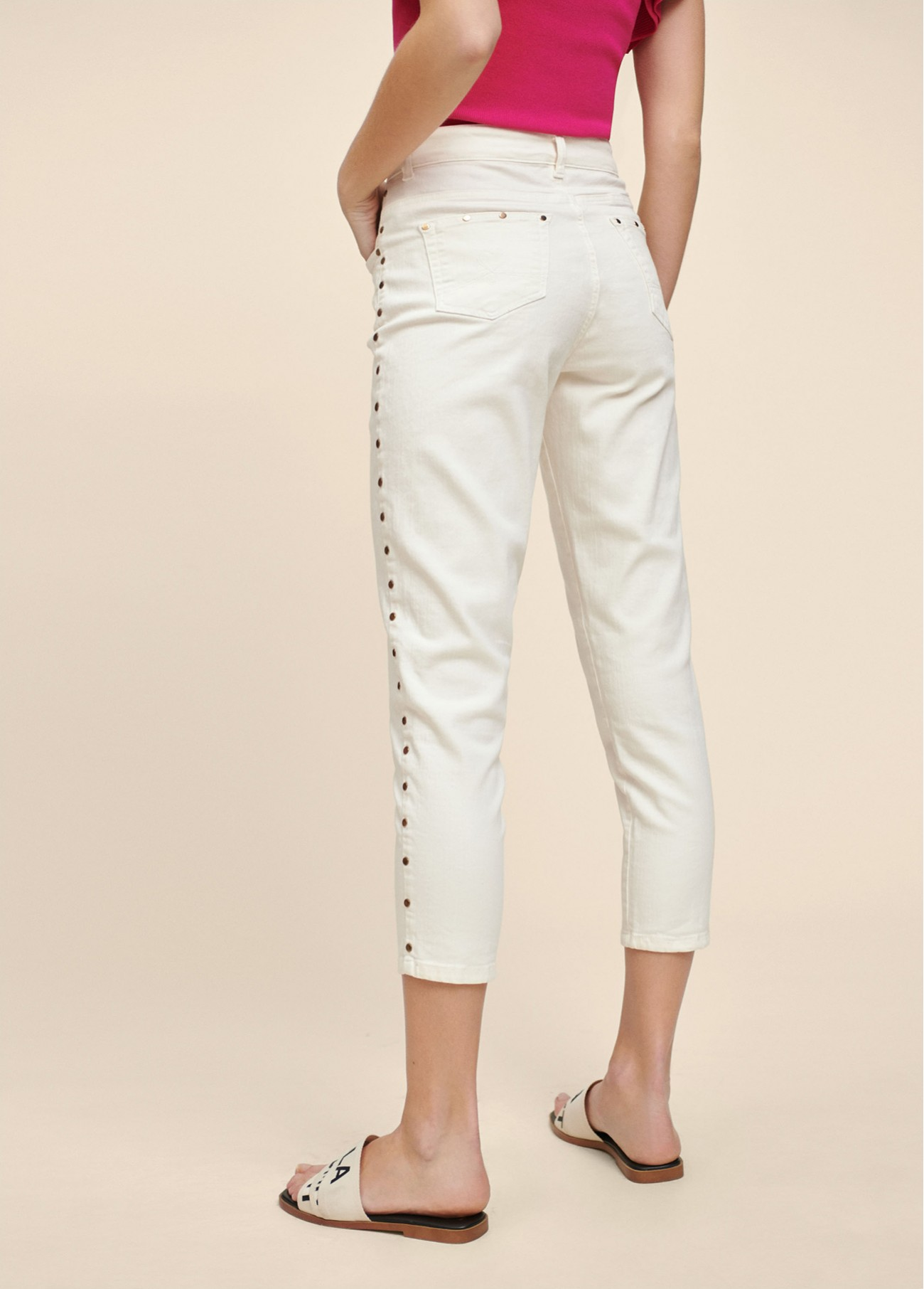 Pantalon blanco pitillo