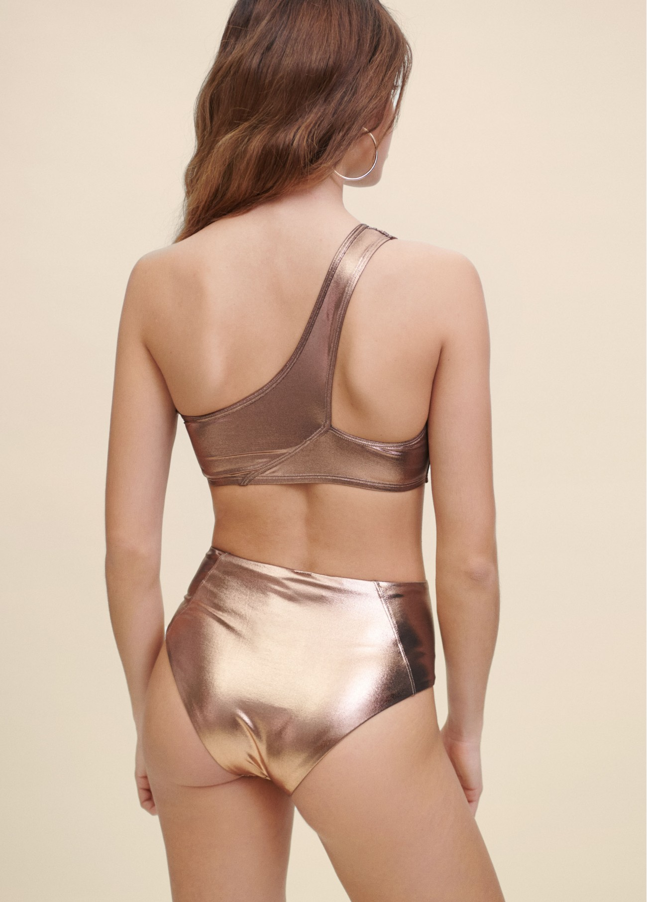 BIKINI ONE SHOULDER METALICO