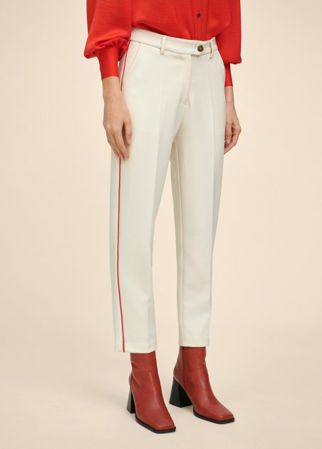 Trousers with contrast...