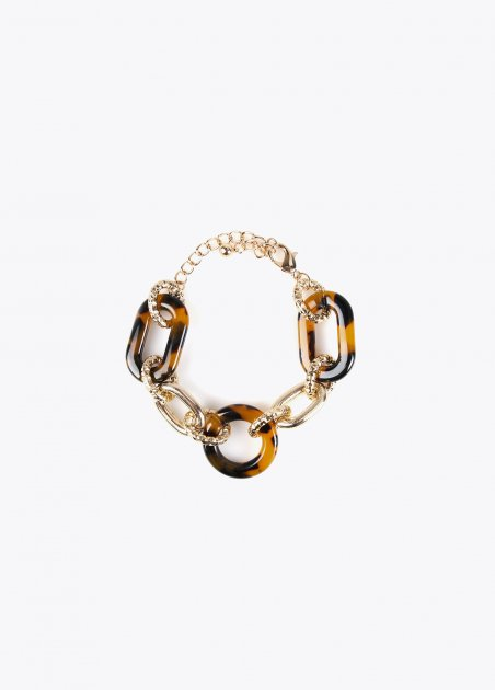 Bracelet with golden and...