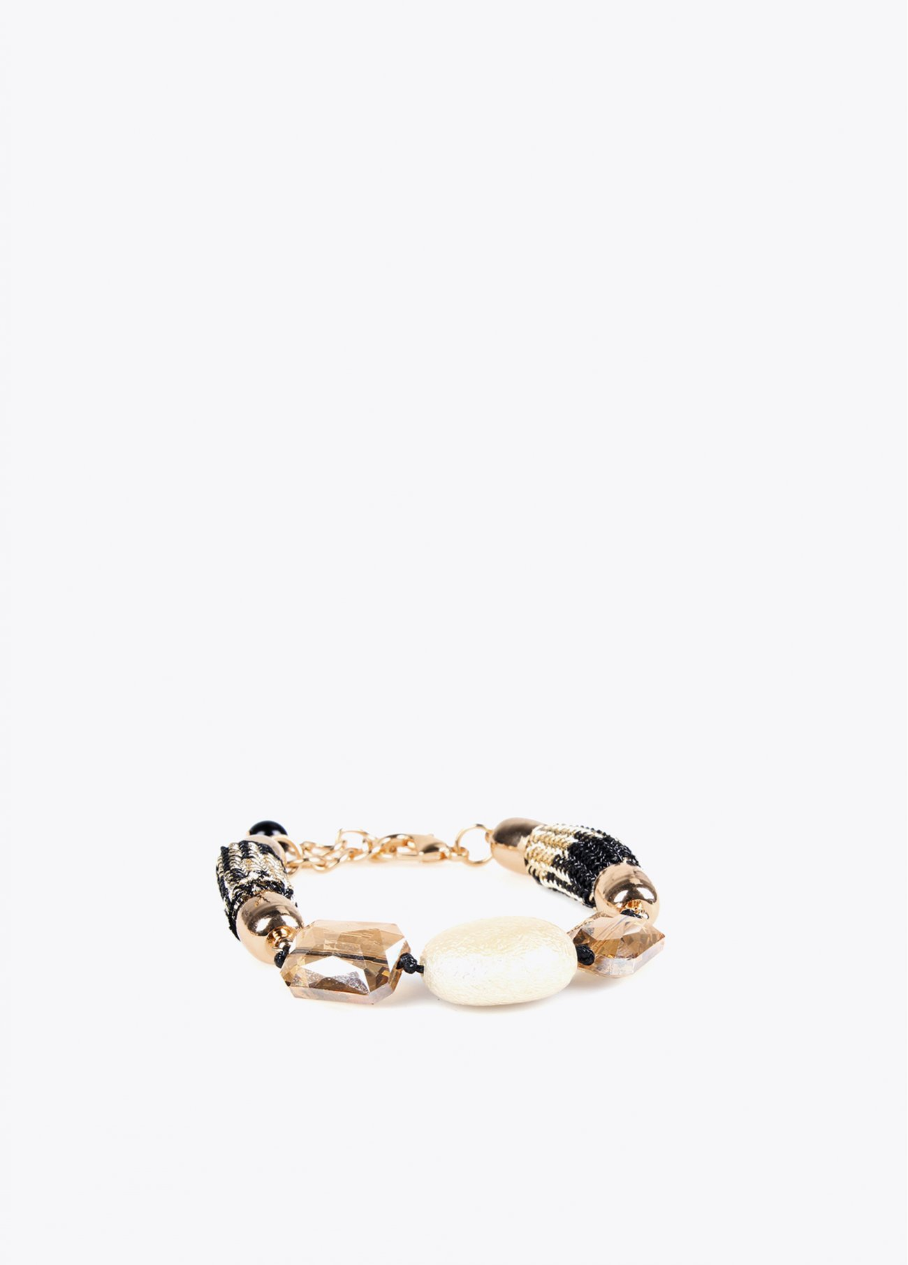 Cord bracelet with pearl