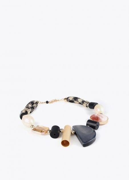 Lurex cord necklace with...