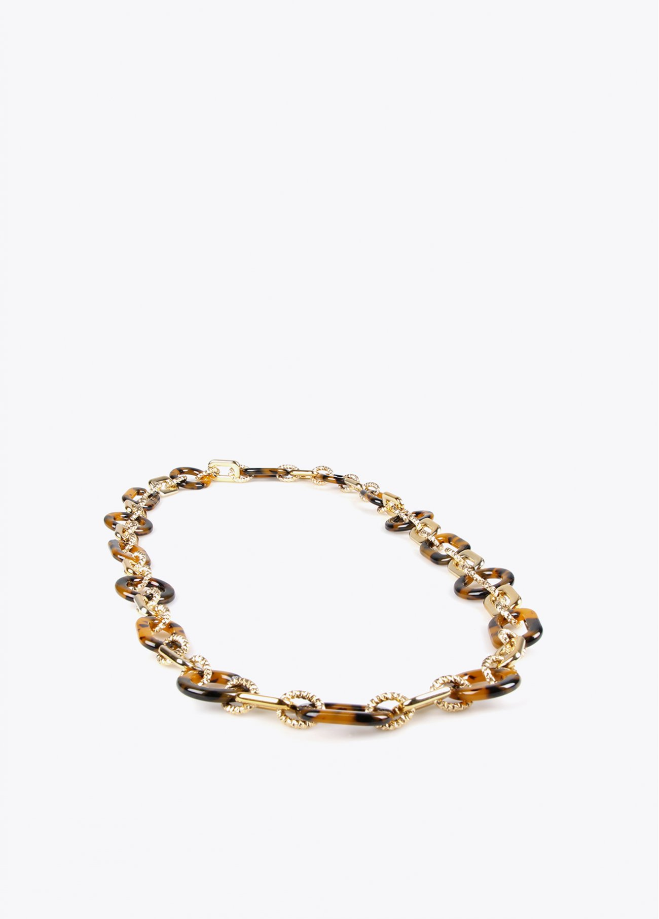 Gold chain necklace with animal print pc