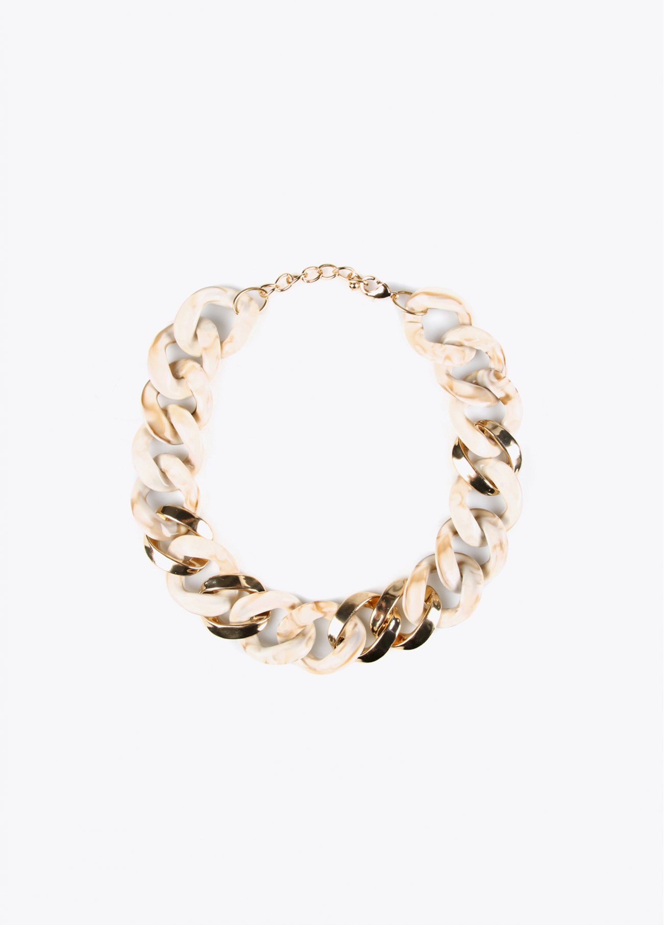 Ivory chain links short necklace