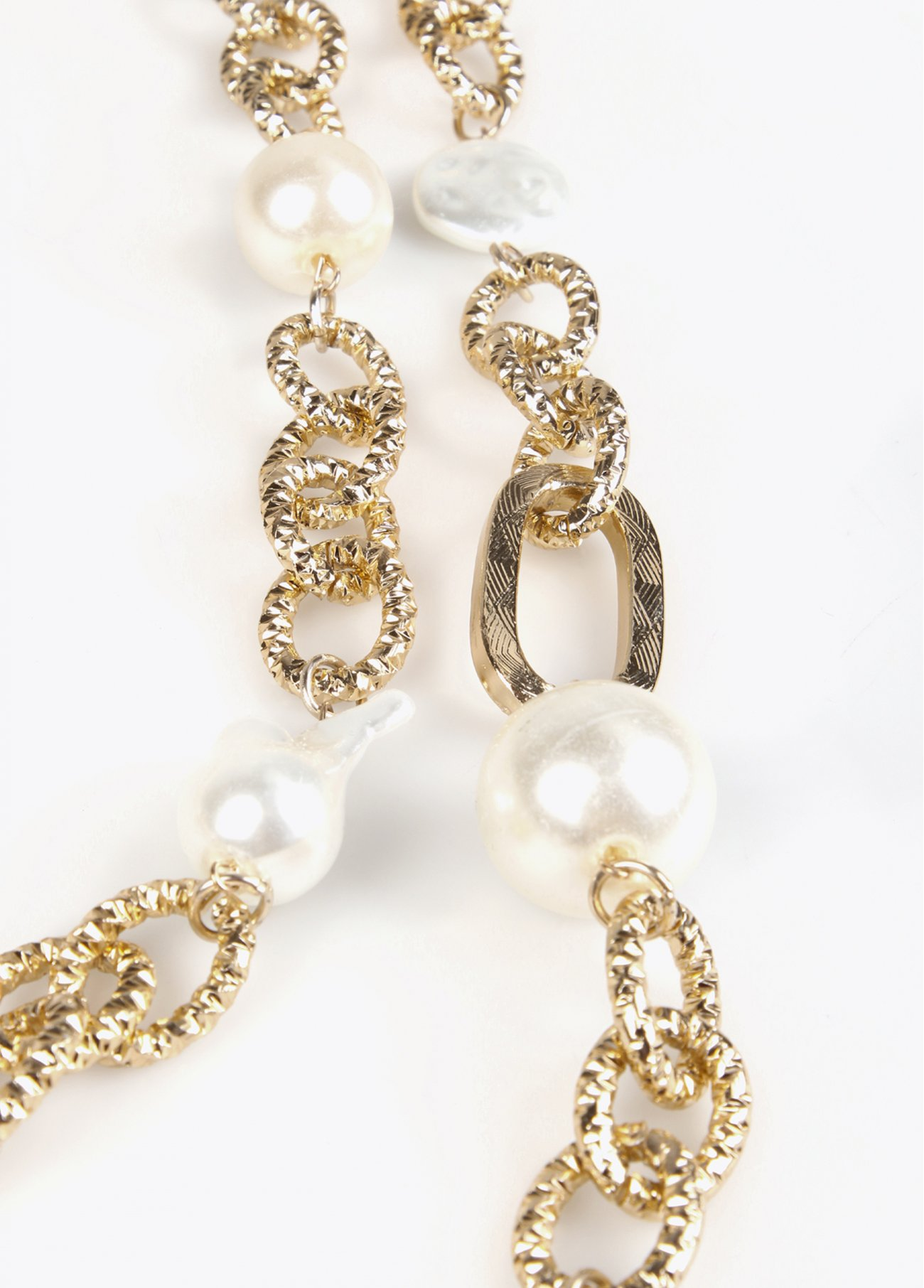 Multi layers chain necklace with pearls