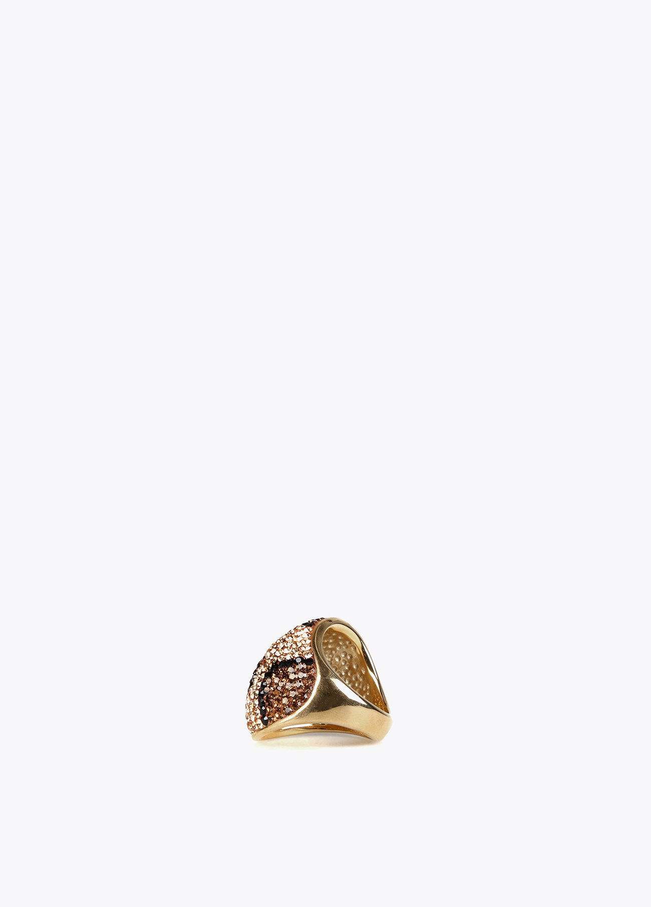 Leopard stones stainless steel ring