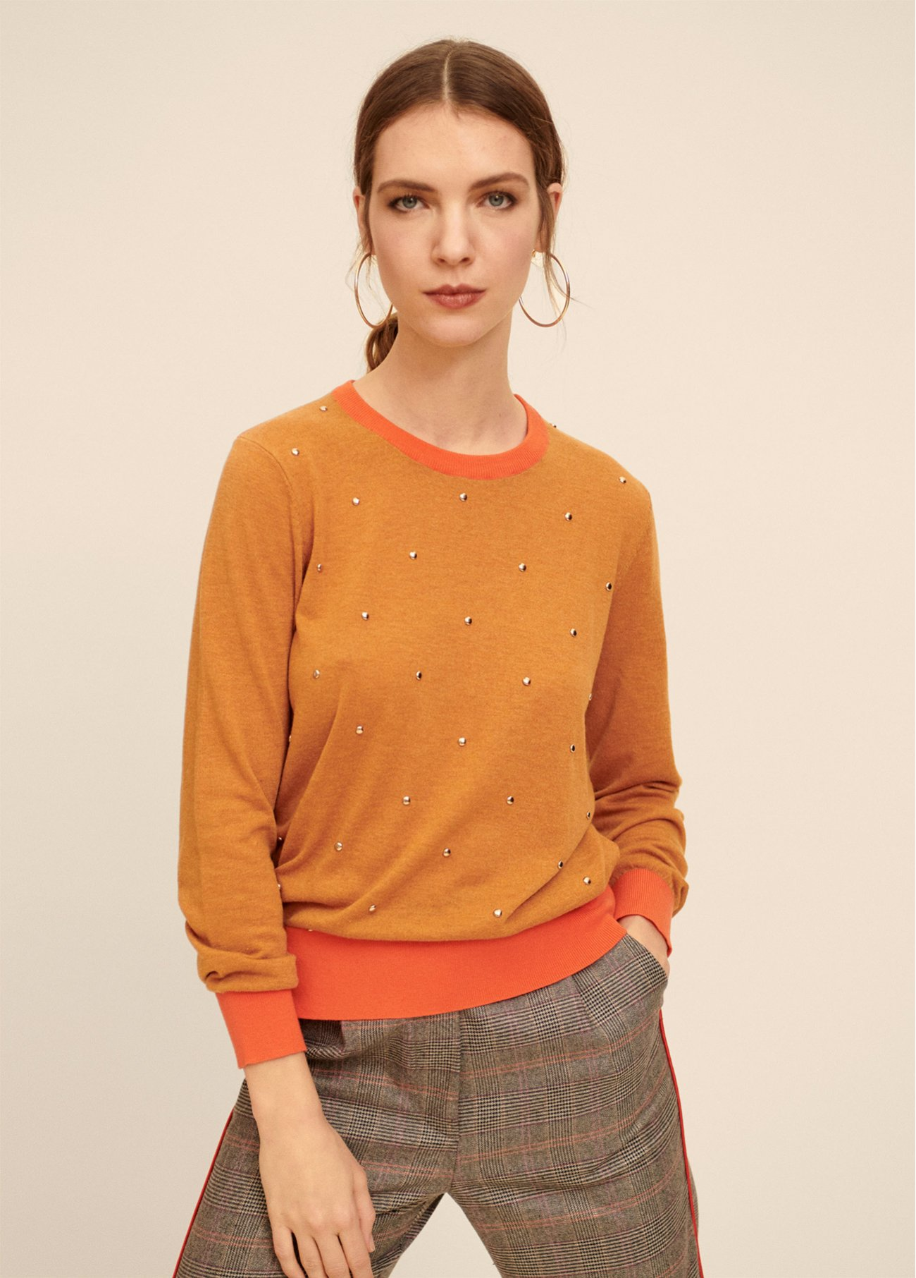 COMBO PULL OVER WITH STUDS