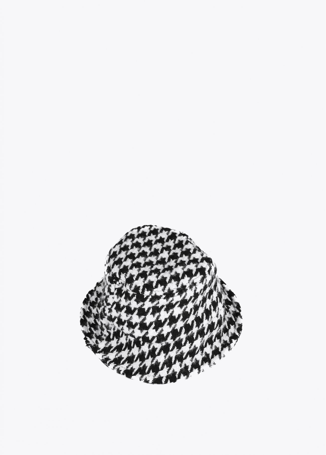 Houndstooth check hat