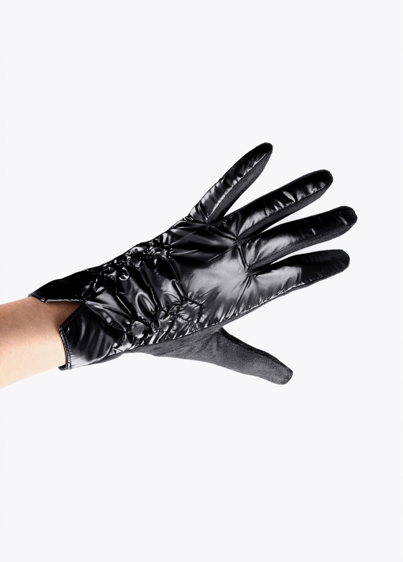 Quilted nylon gloves