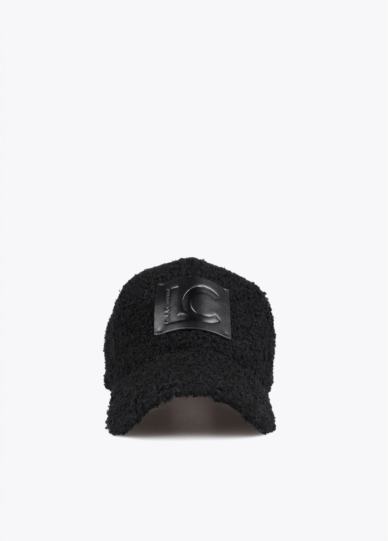 Cap with faux shearling visor