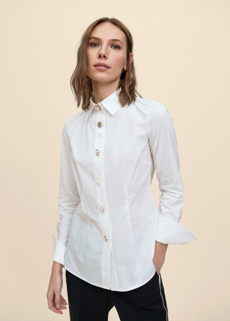 Popelin blouse with...