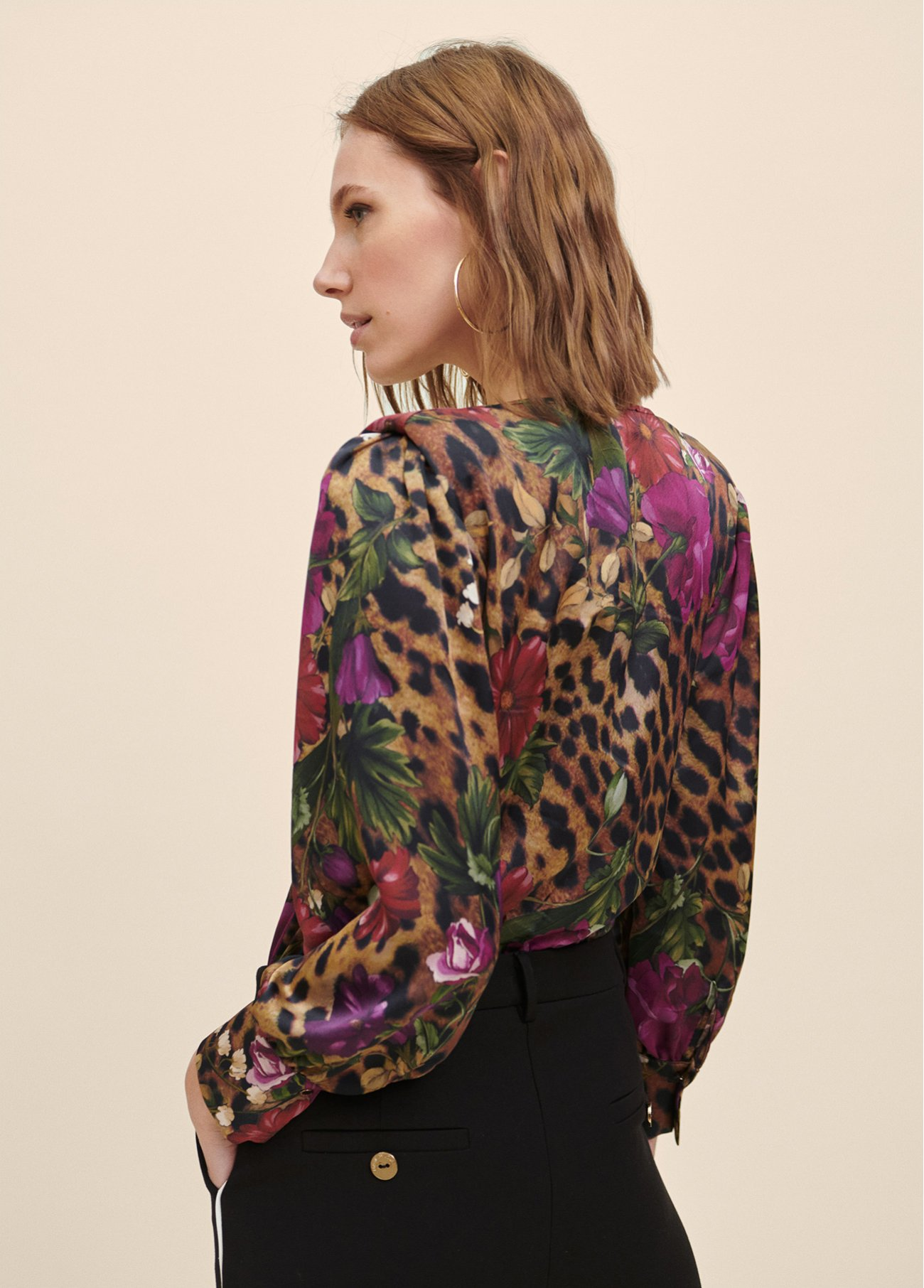 Body with floral and animal print